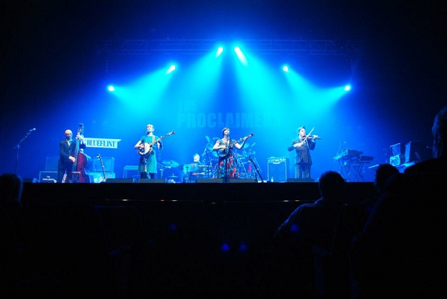 Colour photograph of Blueflint performing at the Edinburgh Playhouse